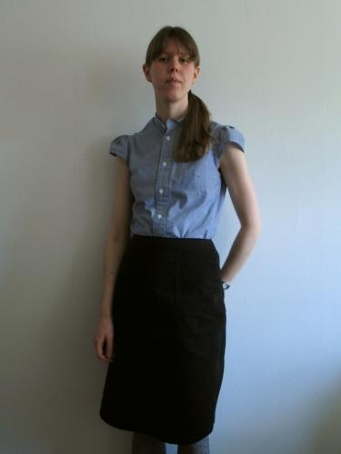 Blus från herrskjorta